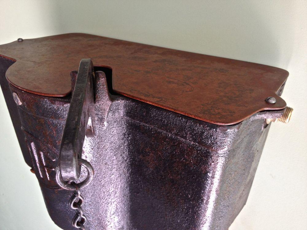 restored cast iron cistern