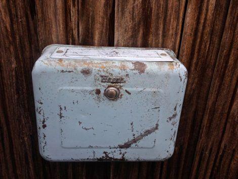 vintage blue cistern