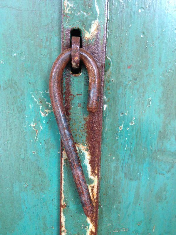 Latch for industrial vanity cupboard door.