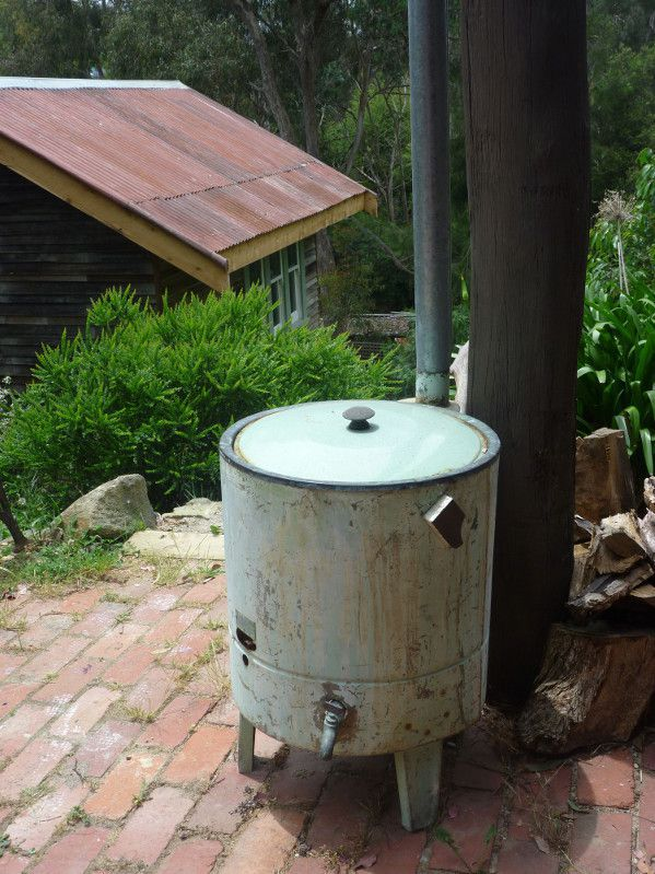 Down pipe catchment water feature.