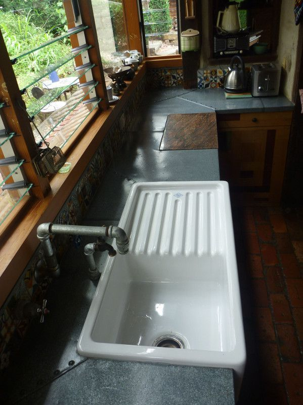 rustic kitchen bench