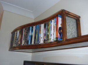 unique Metal DVD rack and shelf.