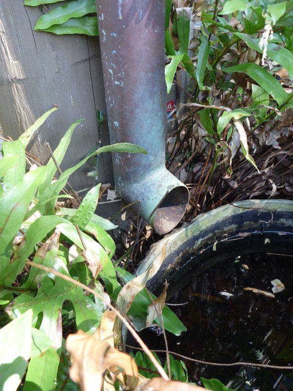 rustic garden water feature