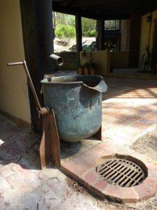 water feature copper drum