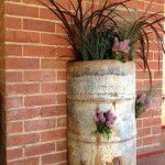 industrial flower pot