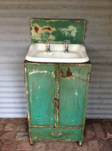 vintage industrial bathroom
