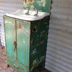 vintage industrial vanity