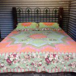 vintage hardwood cast iron bed