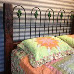 rustic timber bedhead