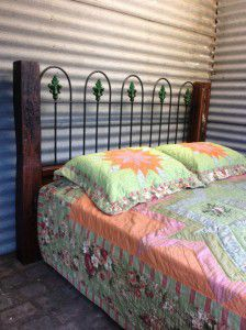 vintage rustic cast iron bed