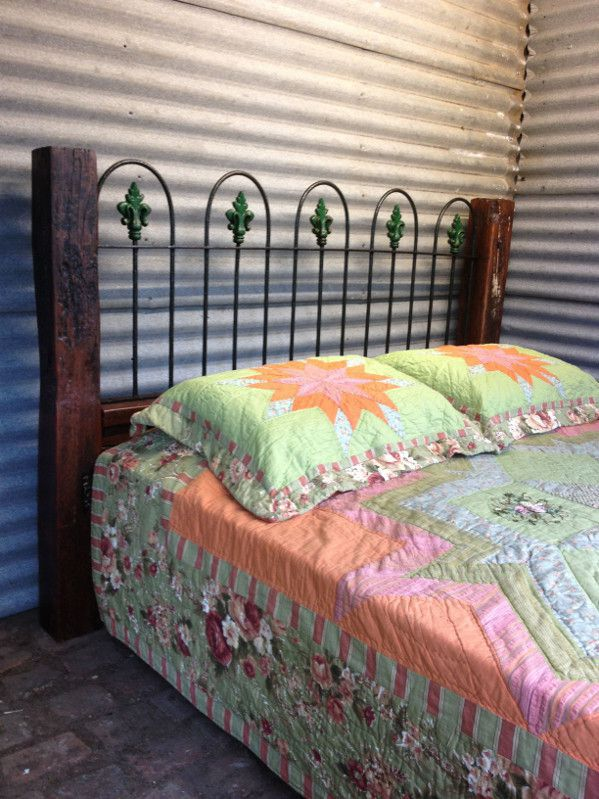 vintage cast iron bed head