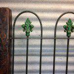 antique iron bedhead