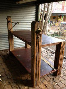 industrial shop counter / island bench