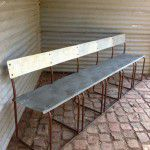vintage industrial bench seat
