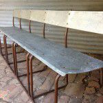 rustic industrial bench seat