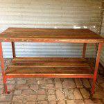 rustic industrial table