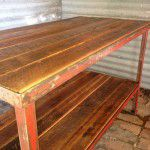 rustic industrial retail counter