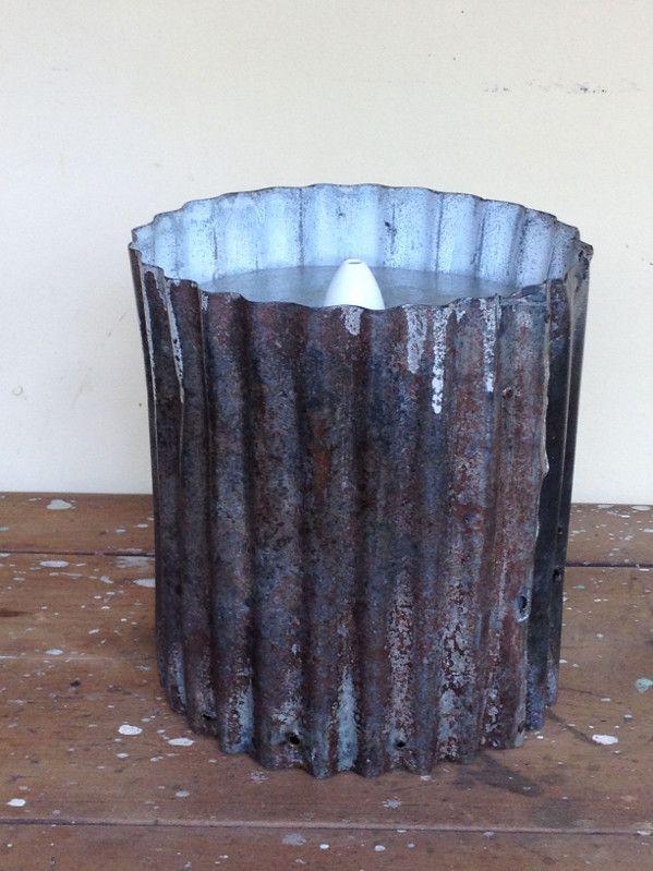 rustic mini-orb pendant light
