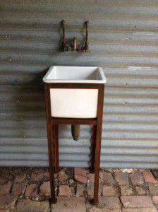 vintage industrial hand basin