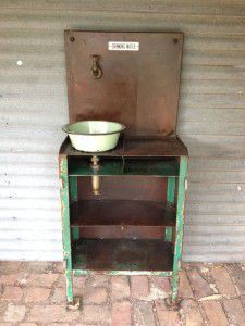 vintage industrial water station