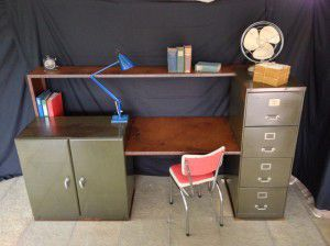 vintage industrial office desk