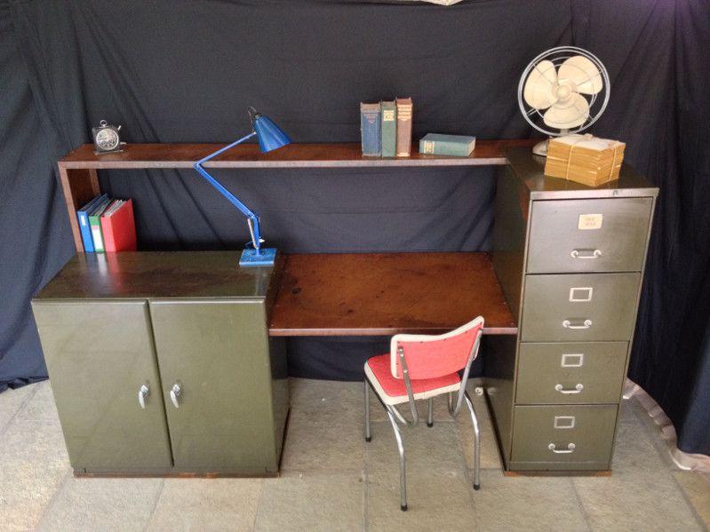 vintage industrial office desk