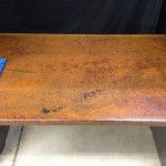 rusted iron desk top
