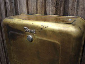 vintage brass Brent toilet cistern