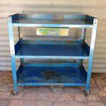 vintage industrial storage shelving