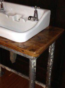 vintage industrial bathroom