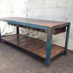 industrial steel work bench