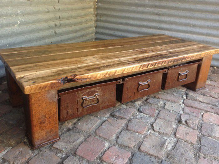 Rustic Industrial Coffee Table Old Soulold Soul
