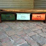 vintage industrial coffee table