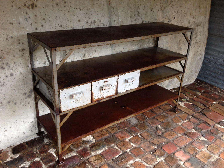 industrial steel sideboard old soulold soul. Black Bedroom Furniture Sets. Home Design Ideas