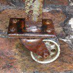vintage industrial castors