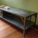 vintage industrial tv unit