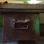 vintage metal drawer