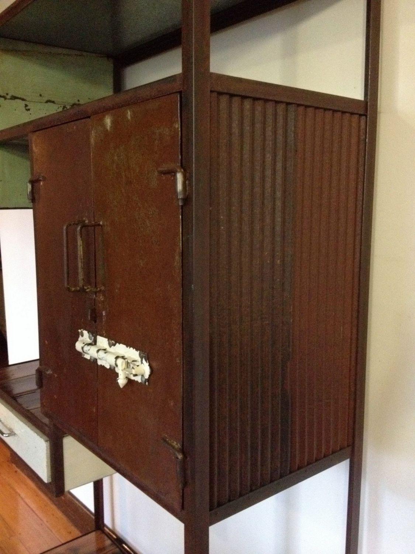 vintage industrial cupboard