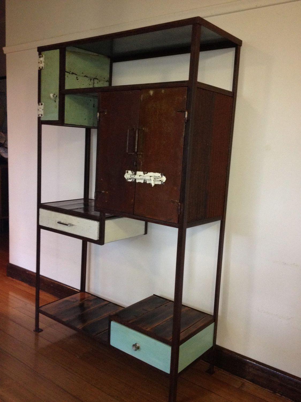 vintage industrial display unit