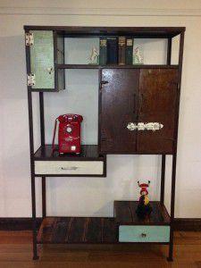 vintage industrial dresser