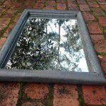 vintage industrial mirror