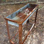 vintage water trough