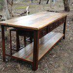 industrial island bench