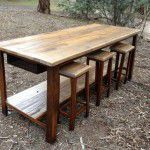 rustic island bench