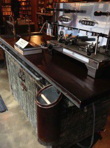industrial coffee cart