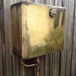 vintage industrial toilet