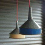 recycled metal rustic funnel light shades