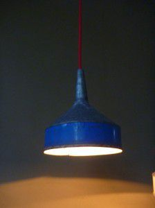 retro rustic metal funnel light shade