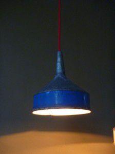 retro rustic metal funnel light shade