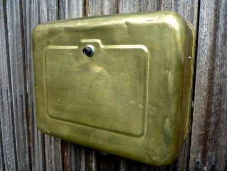 vintage brass cistern